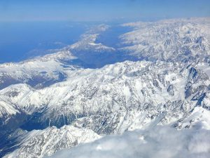 Aerial view of the Caucasus Mountains